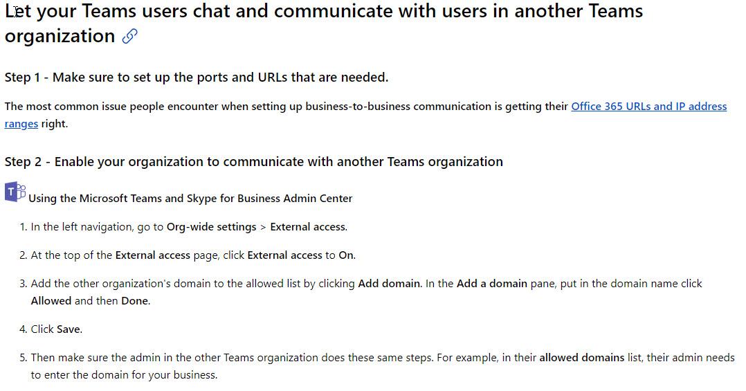 Microsoft Teams Federation is here, sort of