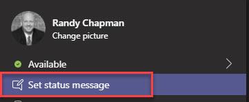 Set status message