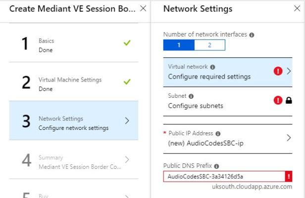 How to: Deploy an AudioCodes Virtual Edition SBC in Azure
