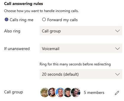 Microsoft Teams Group Call Pickup & Delegates-20