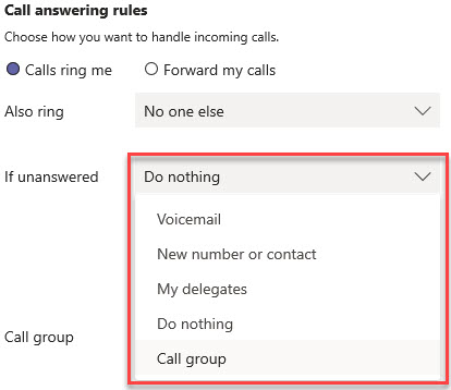 Microsoft Teams Group Call Pickup & Delegates-23