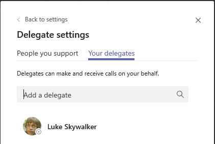 Microsoft Teams Group Call Pickup & Delegates-25