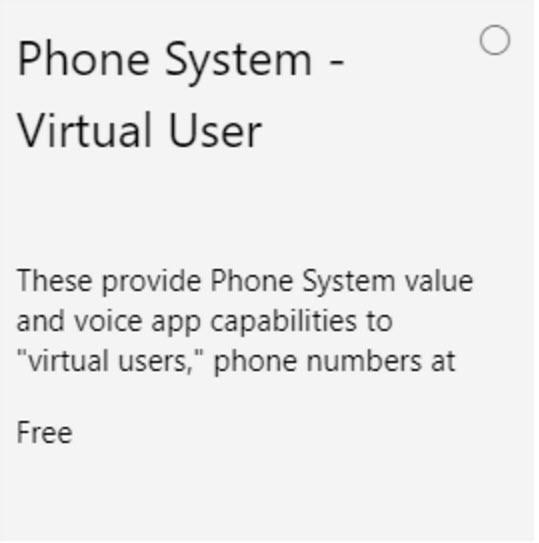 phone system virtual user