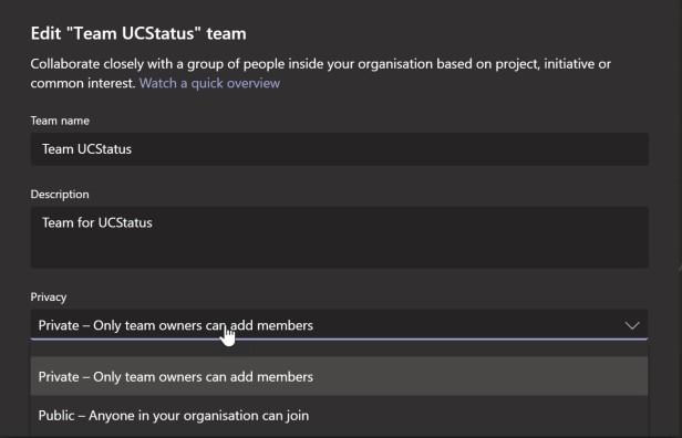 team privacy